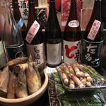 秋田杉 - 利き酒5種と旬の食材