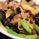 中国菜 膳楽房 - 【本日の日替りランチ】牛肉とささげの香辣炒め@税込950円:寄ってみました