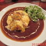 santa cafe HASH - オムライスセット \900