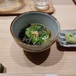 大阪天満宮 鮨とよなが - 蓴菜とオクラ、もずく酢