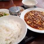 峨嵋山 - ランチメニューの麻婆豆腐