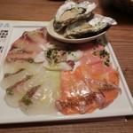 ビストロ魚金 - カルパッチョ980円