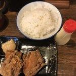 Marukinhompo - 唐揚げセット  味噌マヨネーズはあるが             マイ  シャローナ を持参して来たので注入!