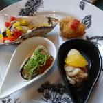 牡蠣亭 - 牡蠣の前菜4種