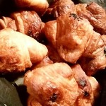 ミニヨン - ミニヨン@博多駅店 プレーン・チョコ・さつま芋のアップ