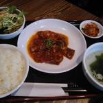 92418906 - ハラミ定食/ご飯大盛り