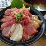 清水港 みなみ  - 特選 鮪三味丼(ご飯大盛)