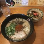 博多ラーメン 田中 - 料理写真:辛みそラーメン 丼セット