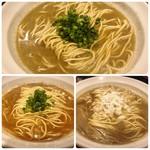 92425630 - 上:牡蠣そば 左下:牡丹海老そば 右下:煮干そばclassic