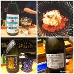 92426605 - 唐津産赤雲丹と北海道産イクラと日本酒たち(^^)