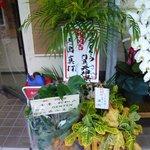 博多とんこつ 門真 天神旗 - うどん店からも花が届いています