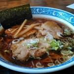 しな喜 - Aラーメン690円 厚切り叉焼(炙り)3枚入り
