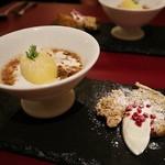 オステリア インクローチ - 冷たいデザート&シフォンケーキ