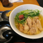 うどん居酒屋 江戸堀 - 炙り蒸し鶏の梅ひやかけ