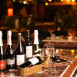 全70種以上の飲み放題♪ワインの種類も豊富に取り揃えてます!