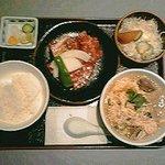 92434135 - 温麺カルビ定食:1050円(税込)【2018年9月撮影】