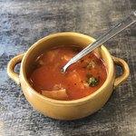 ピッツエリアバール CACTUS D'ORO - ミネストローネ    サラダorスープのどちらかをチョイスできる