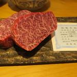 92440075 - 本日の食材:45ヶ月間長期飼育された最高和牛「特産松阪牛」