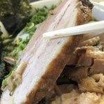 味の大西 - 厚みある焼豚がゴロゴロ