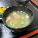 海鮮、定食、天ぷらと酒 舟源 - とても美味しい味噌汁です