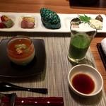 奥日光森のホテル - 料理写真:森のジュース、先付け、前菜