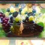 サフラン - 料理写真:ぶどうのパンナコッタ。