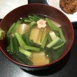 もみじ - 九条ねぎと豆富のくず煮360円