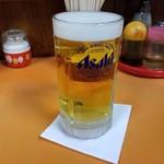 光栄軒 - アサヒスーパードライの生ビール