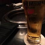 焼肉 いのうえ - 生ビール サントリープレモル