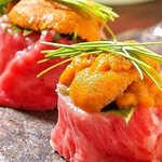 肉×魚×日本酒 照 - 『うにく寿司』