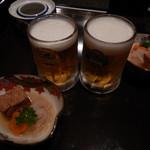 食楽茶屋 舎利蔵 - ビールとお通し