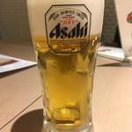 チャンチ - アサヒスーパードライ(ジョッキ中) 500円