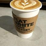 フラット ホワイト コーヒー ファクトリー - ラテ!(о´∀`о)