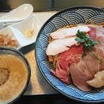 鶏soba 座銀  - 煮干しつけsoba <大> 20180905