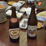 浜屋旅館 - 朝からビール