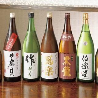 日本全国から集めた店主(利き酒師)おすすめの日本酒と焼酎