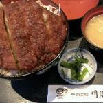 92483013 - 信州ロースソースかつ丼  1447円                           (漬物・味噌汁付き)
