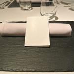 リストランテ カノフィーロ - 2018年8月13日のテーブルセット