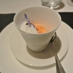 リストランテ カノフィーロ - 赤パプリカのムースと水牛のモッツアレラ