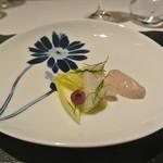 リストランテ カノフィーロ - 蒸しダコと黒オリーヴのマヨネーズ
