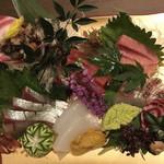 名古屋コーチン 個室居酒屋 京膳 - 鮮魚の豪華五点盛り合せ
