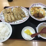 餃子の王将 - 料理写真:餃子定食 (ダブル)
