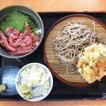 そば処 吉野家 - 料理写真:かき揚げそばマグロ丼セット