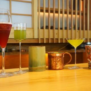 福岡でここまでのラインナップはない【日本茶のカクテル】
