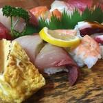 谷町 一味禅 - 寿司 盛り合わせ(¥1700)