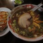 万福食堂 - ちょい呑み万福ラーメンセット 980円