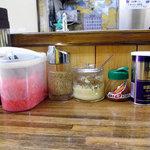 九州ラーメン 野永や - 薬味が5種類もあります