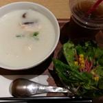 粥茶館 糖朝 - 鶏と椎茸粥2018.9.8