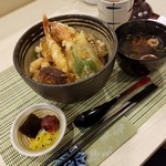 まつ葉 - 「天丼ランチ (1000円)」
