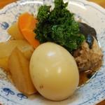 夏風 - 料理写真:煮玉子入りブリ大根